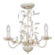 Lullaby 3 Light Fitting in a Cream and Gold Finish - ENDON LULLABY-3CR